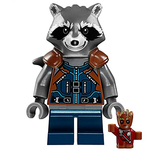 Rocket Raccoon Guardians Of The Galaxyミニフィギュアビルディングブロック玩具 – 互換性ミニアクションフィギュア – Interchangeable Building Kit by Hatber Toys