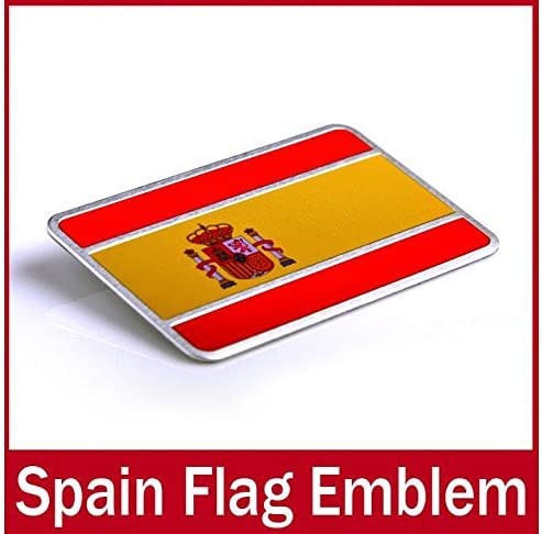 COCHE Alu OxGrow™ para plnchar insignia de vinilo adhesivo para España Espana insignia diseño de la bandera de la bandera de nuevo coche de vinilo adhesivo de vinilo para el coche: Amazon.es: