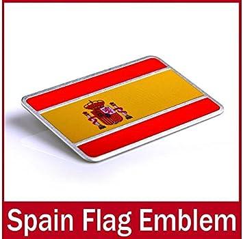 Coche Auto Oxita™ Alu gafete sidras pegatina adhesivo para España Espana coche insignia bandera nacional coche pegatina adhesivo pegatina: Amazon.es: Electrónica
