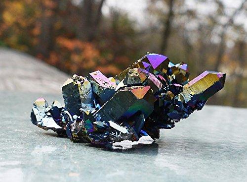 """Titanium Quartz Crystal Cluster - 3"""""""