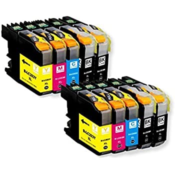 TS 10 PK Compatible Ink Cartridges for Brother LC203 LC-203 (4 Black, 2 Yellow, 2 Magenta, 2 Cyan) for Multifunction Printers MFC-J4320DW, MFC-J4420DW, MFC-J4620DW, MFC-J5620DW, MFC-J5720DW