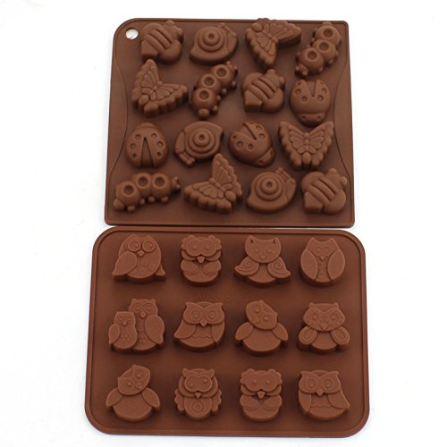 Zicome Silicone Animal Insect Chocolate Candy Making Mold Ice Cube Tray Set of 2 ()