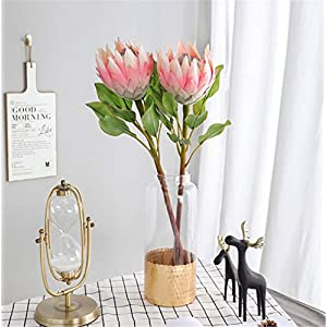 Skyseen 1PCS Artificial Protea Cynaroides Flower Stem 108