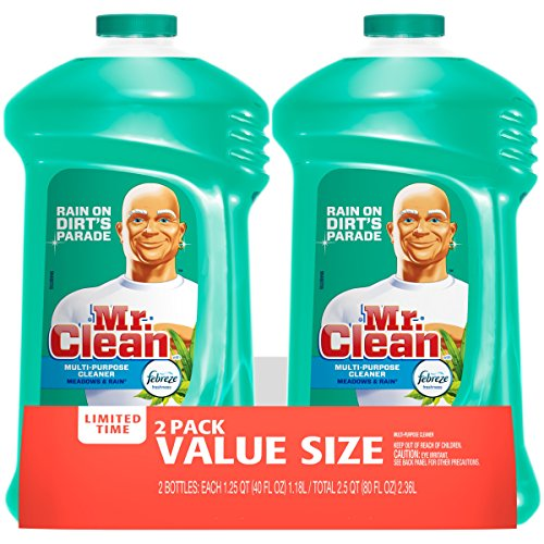 Mr  Clean With Febreze Meadows And Rain Liquid All Purpose Cleaner  40 Oz Twin Pack