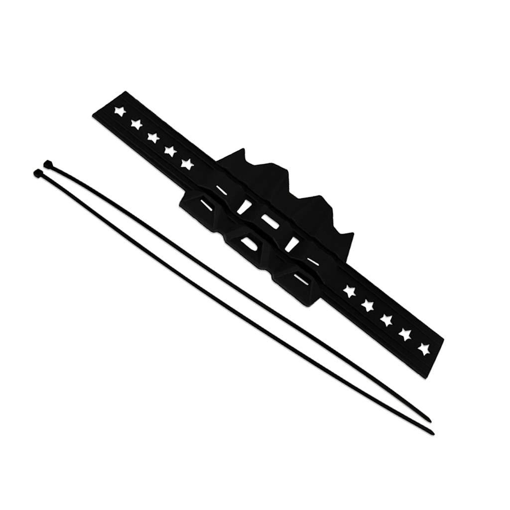 Sharplace Protector Silenciador de Motocicleta Herramientas Moto F/ácil Instalaci/ón Negro