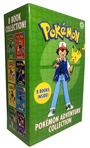 Orange Box Official - The Official Pokemon Adventure Collection 8 Books Box Set (Ash's Big Challenge, Pokémon Peril, The Orange League, Scyther Vs Charizard, Race to Danger, Show Time!, Power Up Psyduck, The Winner's Cup