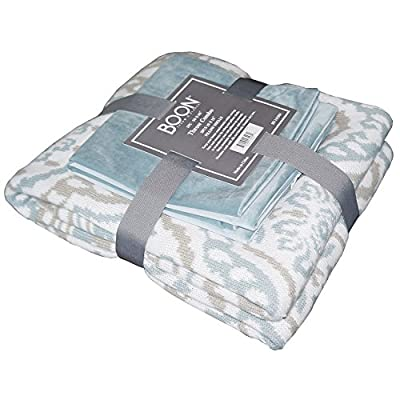 "Home Soft Things Knitted Woven Throw with 2 Pillow Shells Combo Set, Tivoli - Combo Set comes with (1) Throw & (2) Pillow Shell with Matching Color Throw Size: 50"" x 60"" Pillow Shell Size: 18"" x 18"" - blankets-throws, bedroom-sheets-comforters, bedroom - 51Ewc7mHENL. SS400  -"