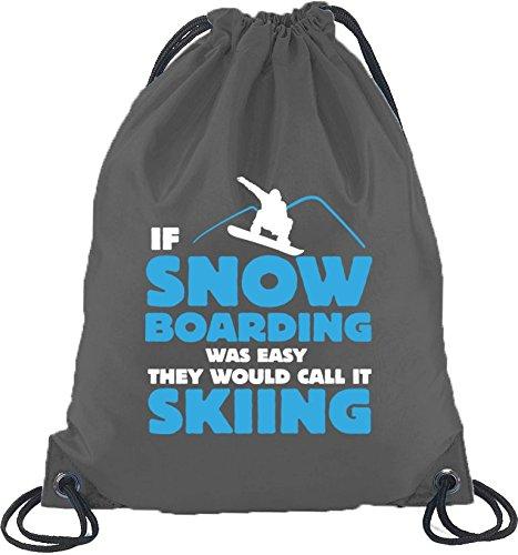 If Snowboarding Was Easy, Wintersport Après Ski Turnbeutel Rucksack Sport Beutel