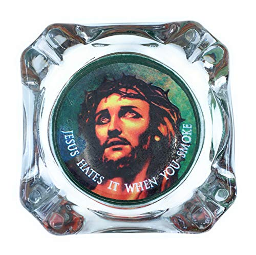 (JS Gifts Jesus Hates IT When You Smoke Ashtray)