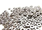 jennysun2010 6mm Solid Metal Flat Disc Round Rondelle Slice Bracelet Necklace Connector Spacer Charm Beads Silver 500 Pcs per Bag for Earrings Jewelry Making Crafts Design