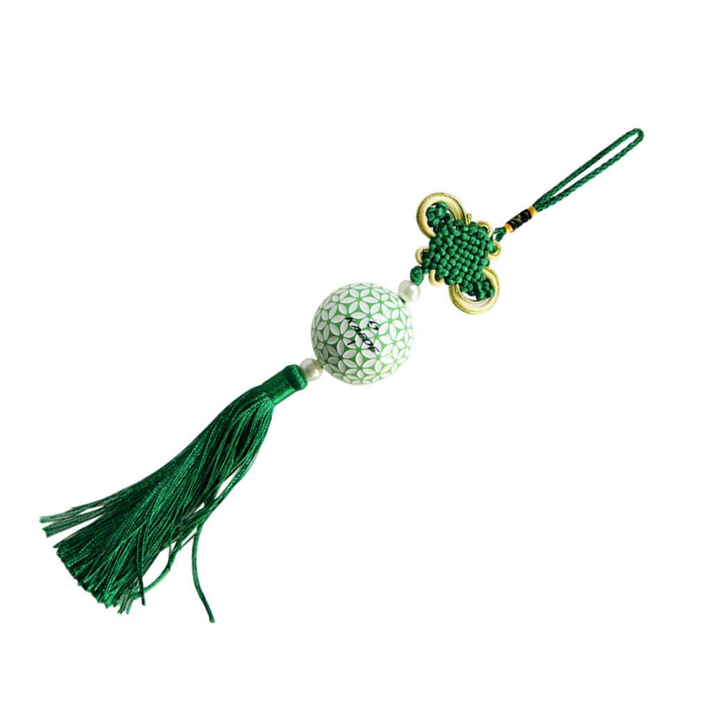 Chinese Knot Tassel Chinese New Year Decoration Lucky Oriental Pendant Decor | Color - Green