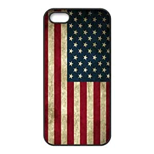 The USA Flag Diy Design For iPhone 5/5s Hard Back Cover Case 36