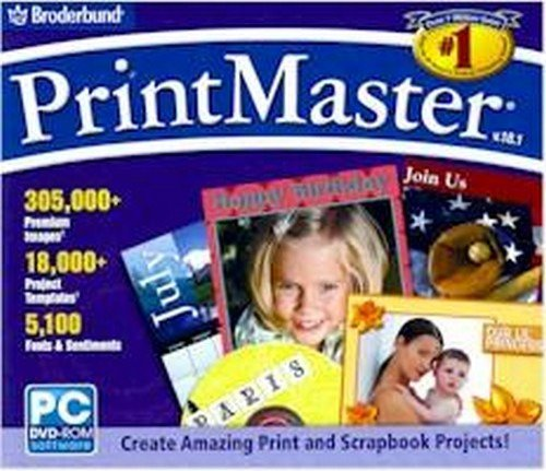 Printing Pages Scrapbook Digital - Broderbund PrintMaster Version 18.1