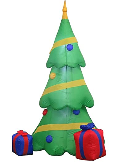 home accents holiday 65ft led inflatable airblown led christmas tree with gift boxes