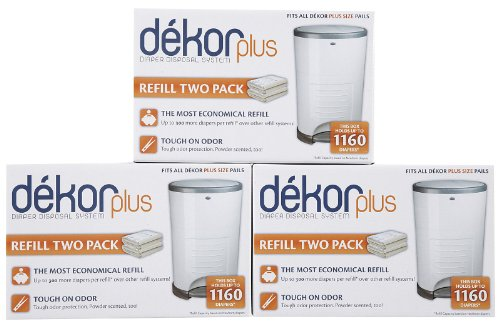 Dekor plus hands free diaper pail gray for Dekor plus refills