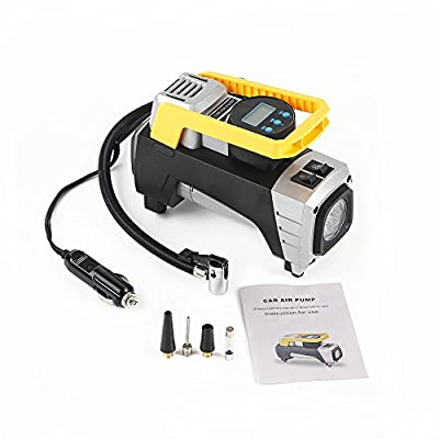 Auto portable Air Compressor Tire Inflator, Digital Air Compressor Pump for car tires, 12V 150 PSI Tire Pump for Car, Truck, Bicycle, RV and Other Inflatables by EAUSPL