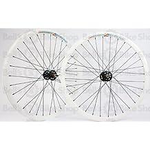 Wheel Master Weinmann DP18 Wheel Set - 700c, 32H, Fixie, White/Black/Black by WheelMaster