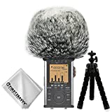 First2savvv Outdoor Portable Digital Recorders Furry Microphone Mic Windscreen Wind Muff for Tascam DR-44WL DR44 WL - TM-DM-DR44WL-B01TZ3