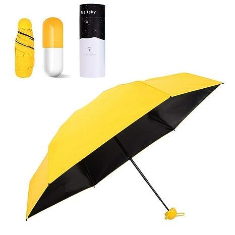 Paraguas Plegable,Maltsky Ultraligero Paraguas de Viaje,Ultra Mini,Ultra Protector (99