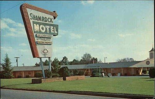 Int Card Services (Shamrock Motel, Int. 85 at 18 Gaffney, South Carolina Original Vintage Postcard)