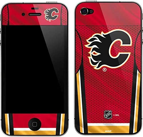 B004XFZ6KW Skinit Decal Phone Skin for iPhone 4&4s - Officially Licensed NHL Calgary Flames Home Jersey Design 51EweUaEysL