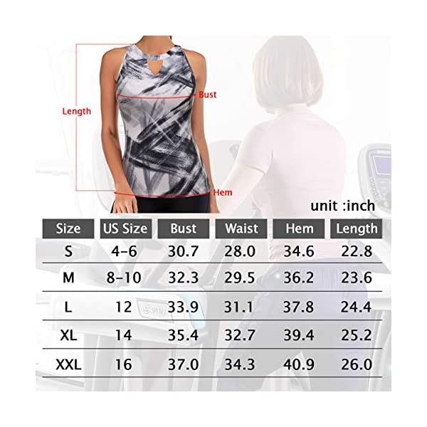 Aonour Women Workout Tank Tops Built in Bra Racerback Yoga Tops Exercise Gym Shirts Running Tank Tops