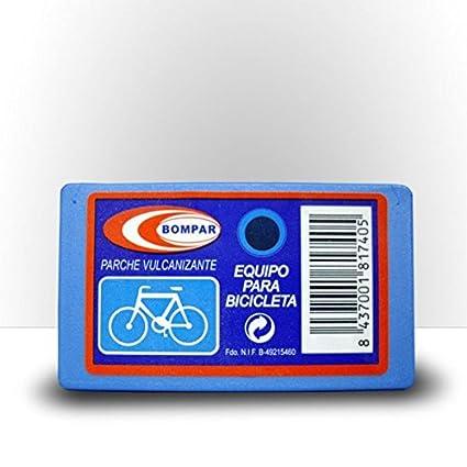 Parches Bicicleta Carretera - Parche Vulcanizante Bici reparar ruedas - KIT completo reparación neumáticos, Contiene
