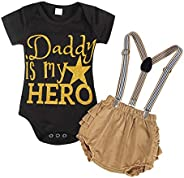 Kantenia Newborn Baby Girl Romper Bodysuits Cotton Flutter Sleeve Infants One-Piece Romper Outfits Clothes