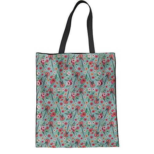 Multifunction Bag Travel Tote Guitar Student Pattern Linen Bag Bookbags HUGS Shoulder IDEA Electric Science vSqfTS4