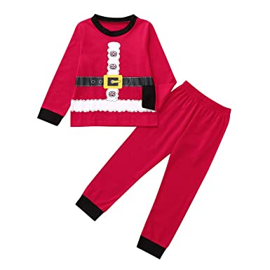 d2aa97a26c Amazon.com  2018 Clearance Kids Christmas Party Outfits Set Pajama ...