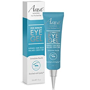Puffy Eye GEL Instant results – Naturally rapid reduction eye gel, Eliminate Wrinkles, Puffiness and Bags – Hydrating Eye Gel w/Green Tea Extract by Aqua Mineral – 1 oz