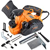 "VonHaus 7.5 Amp Electric Wood Hand Planer With 3 1/4"" Planing Width and Extra Set of Planer Replacement Blades"
