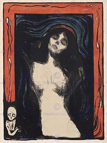 Wee Blue Coo Painting Edvard Munch Madonna 2 12 X 16 INCH Art Print Poster -