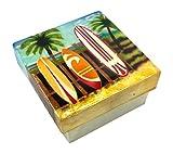 Kubla Craft Surfboards Capiz Shell Keepsake Box, 3 Inches Square