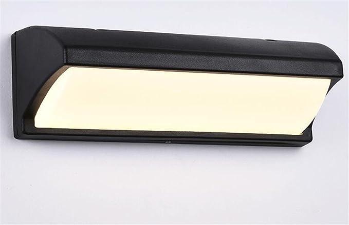 Allaperto in alluminio muro luce impermeabile acrilico lampada da