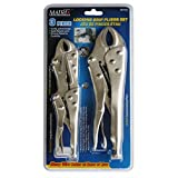 Firm-Grip 707103 Pliers-Locking Jaw 3 Piece Set