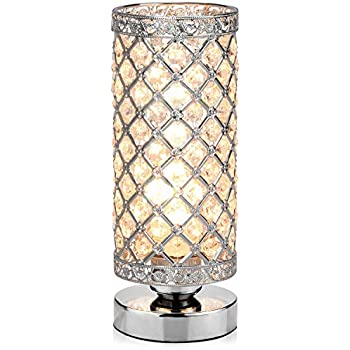 Crystal Silver Table Lamp Surpass Lighting X9009 1500033 Best