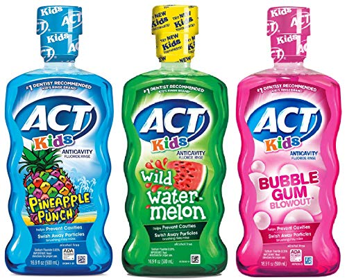 ACT Kids Mouthwash Variety Pack (Original Version) (Best Mouthwash For Toddlers)