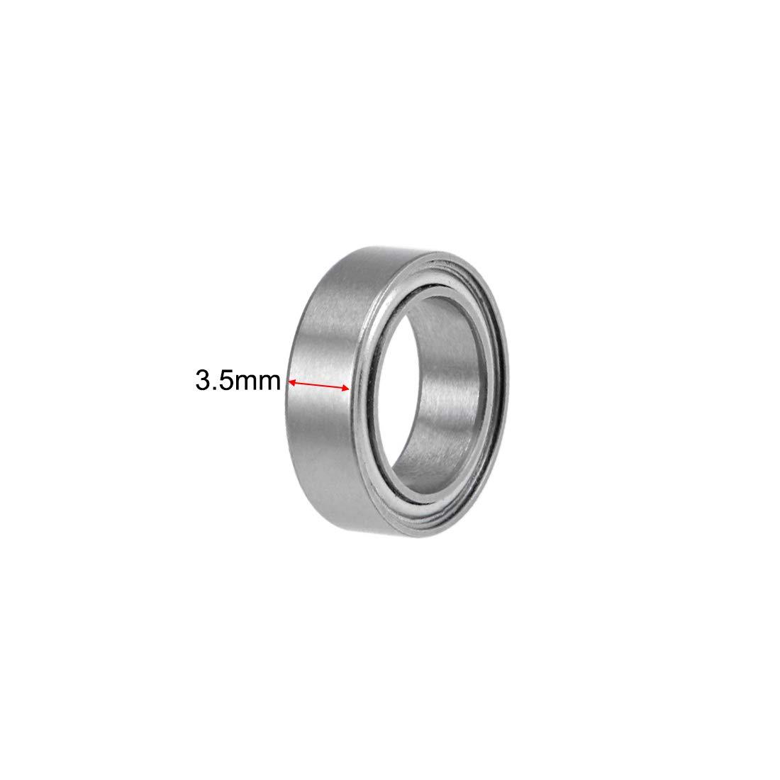 uxcell MR128ZZ Deep Groove Ball Bearings 8mm Inner Dia 12mm OD 3.5mm Bore Double Shielded Chrome Steel Z2 2pcs