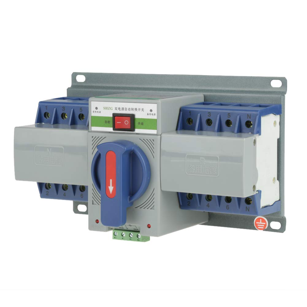 220V 63A 4P Automatic Transfer Switch, Mini Dual Power Automatic Transfer Switch Circuit Breaker