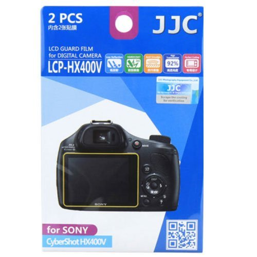 (JJC LCP-HX400V Ultra hard polycarbonate LCD Film Screen Protector For Sony HX400 Camera 2Pack )