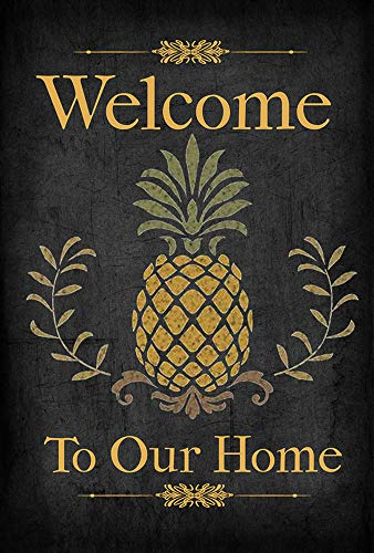 Welcome Flag Large - Pineapple Welcome to Our Home Decorative Garden Flag, Double Sided, 12