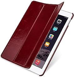 StilGut Couverture, housse en cuir véritable pour iPad Air 2, en bordeaux