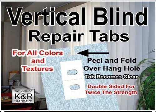 Vertical Blind Repair Tabs 10 Tabs