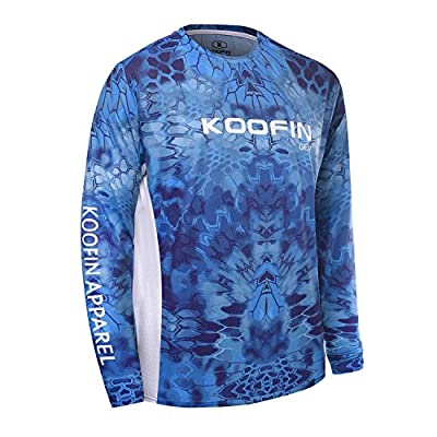 Performance Fishing Shirt UPF 50+ Dry Fit Men's Tech Long Sleeve Shirt Kryptek (4 colors options)