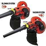 Toolman Corded Electric Leaf Sweeper Vacuum Blower 6 Speed 1200W 10A for Heavy Duty Works with DeWalt Makita Ryobi Bosch Skill Accessories