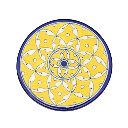 Yellow Pottery - Blue Pottery Trivet - Yellow - Matr Boomie