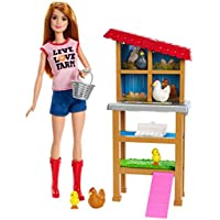Barbie Chicken Farmer Doll &...