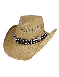 Bullhide Hats 2644 Sassy Cowgirl Collection More Than Words Pecan Cowboy Hat