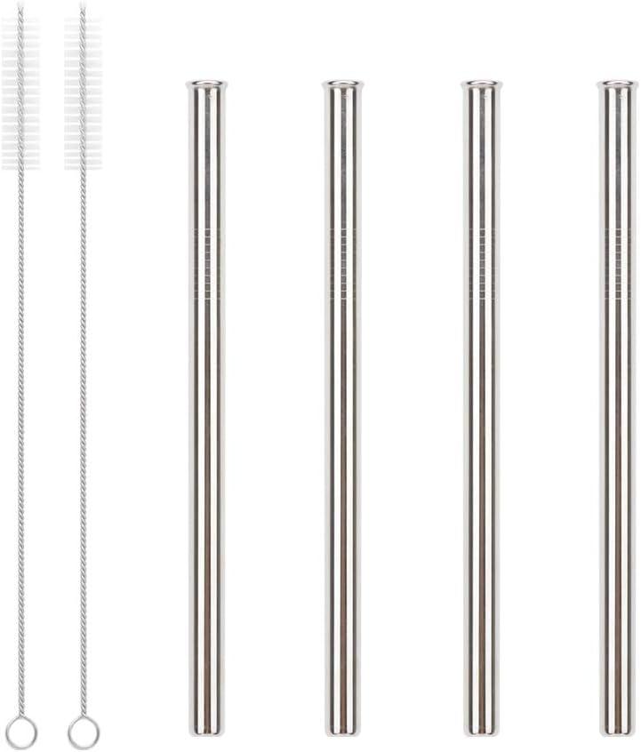 pailles en acier inoxydable de couleur d/égrad/ée Kiemeu Lot de 10 pailles color/ées en m/étal r/éutilisables avec brosses de nettoyage